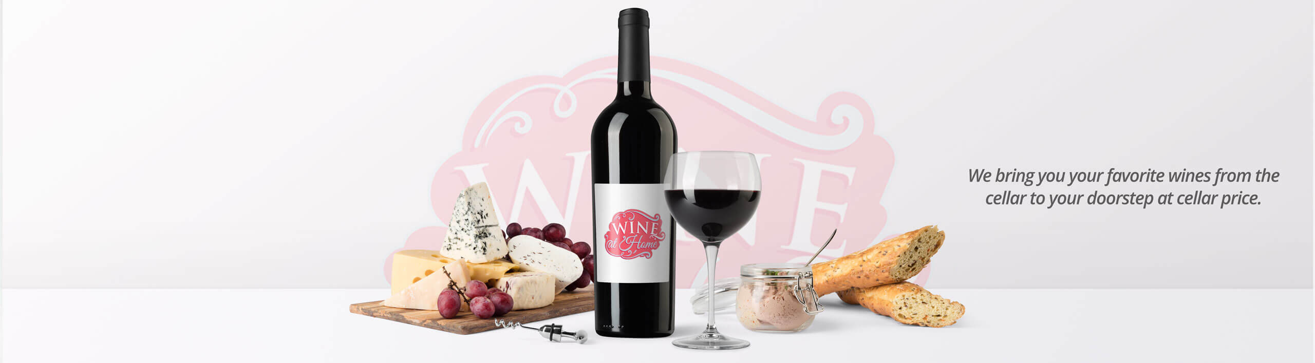 Wine-At-Home Banner Ad. Buy Wine Online